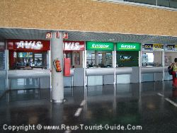 The Car Hire Companies In The Arrivals Area Of Reus Airport