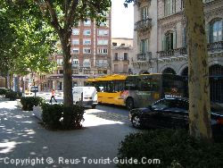 The Public Buses In Reus Are Yellow