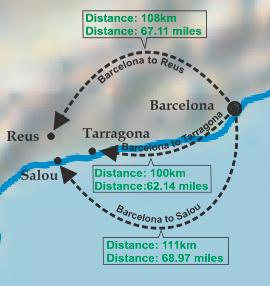 Driving Route Reus To Barcelona