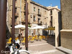 One Of Many Charming Outdoor Terraces Where You Can Sit And Soak Up The Atmosphere In Reus Spain