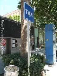 A Taxi Rank In Reus Centre